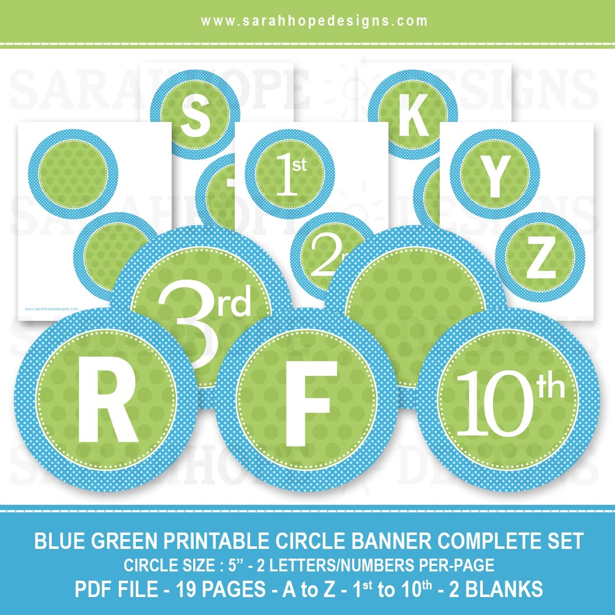 Spell Out Anything With These Free Alphabet Circle Banners From - Free Printable Alphabet Letters For Banners