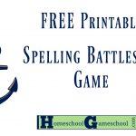 Spelling Battleship Free Game Download » Homeschool Gameschool   Free Printable Battleship Game