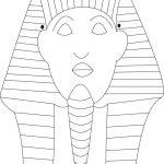 Sphinks Mask Printable Coloring Page For Kids | מצרים | Egypt Crafts   Free Printable Egyptian Masks