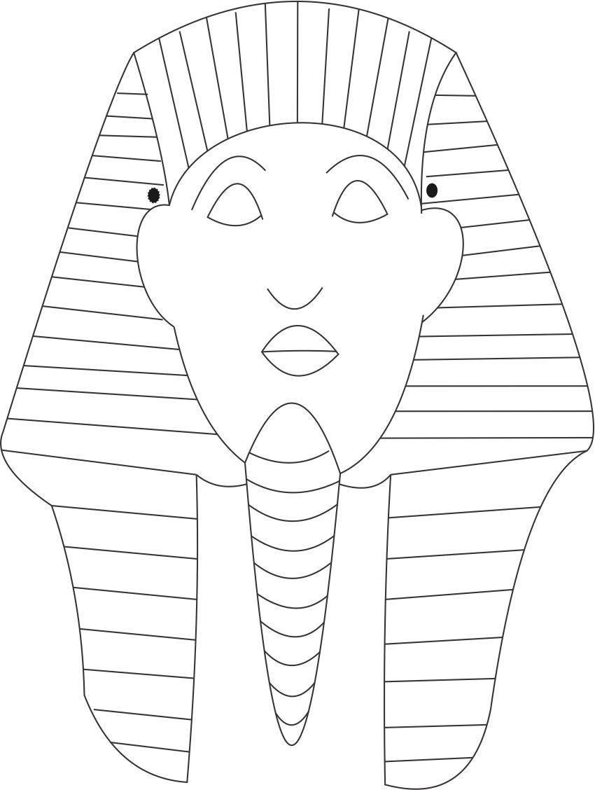Sphinks Mask Printable Coloring Page For Kids | מצרים | Egypt Crafts - Free Printable Egyptian Masks