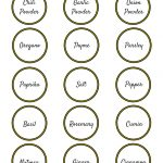 Spice Organizing Ideas And Free Labels   The Organized Dream   Free Printable Spice Labels