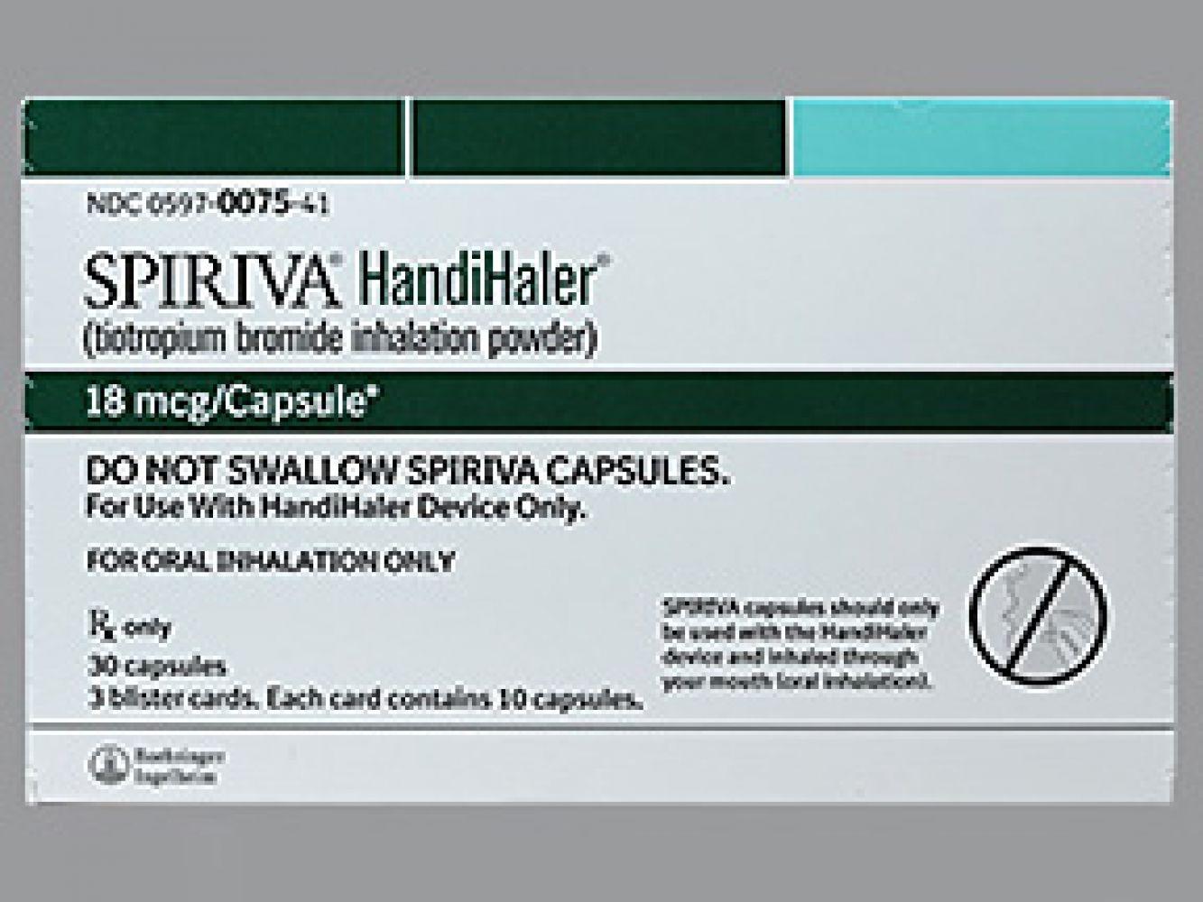 Spiriva 18 Mcg Cp-Handihaler - Free Printable Spiriva Coupons