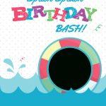 Splish Splash   Free Printable Summer Party Invitation Template   Free Printable Water Park Birthday Invitations