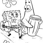 Sponge Bob Coloring Pages   Spongebob Coloring Pages Free Rawesomeco   Spongebob Squarepants Coloring Pages Free Printable