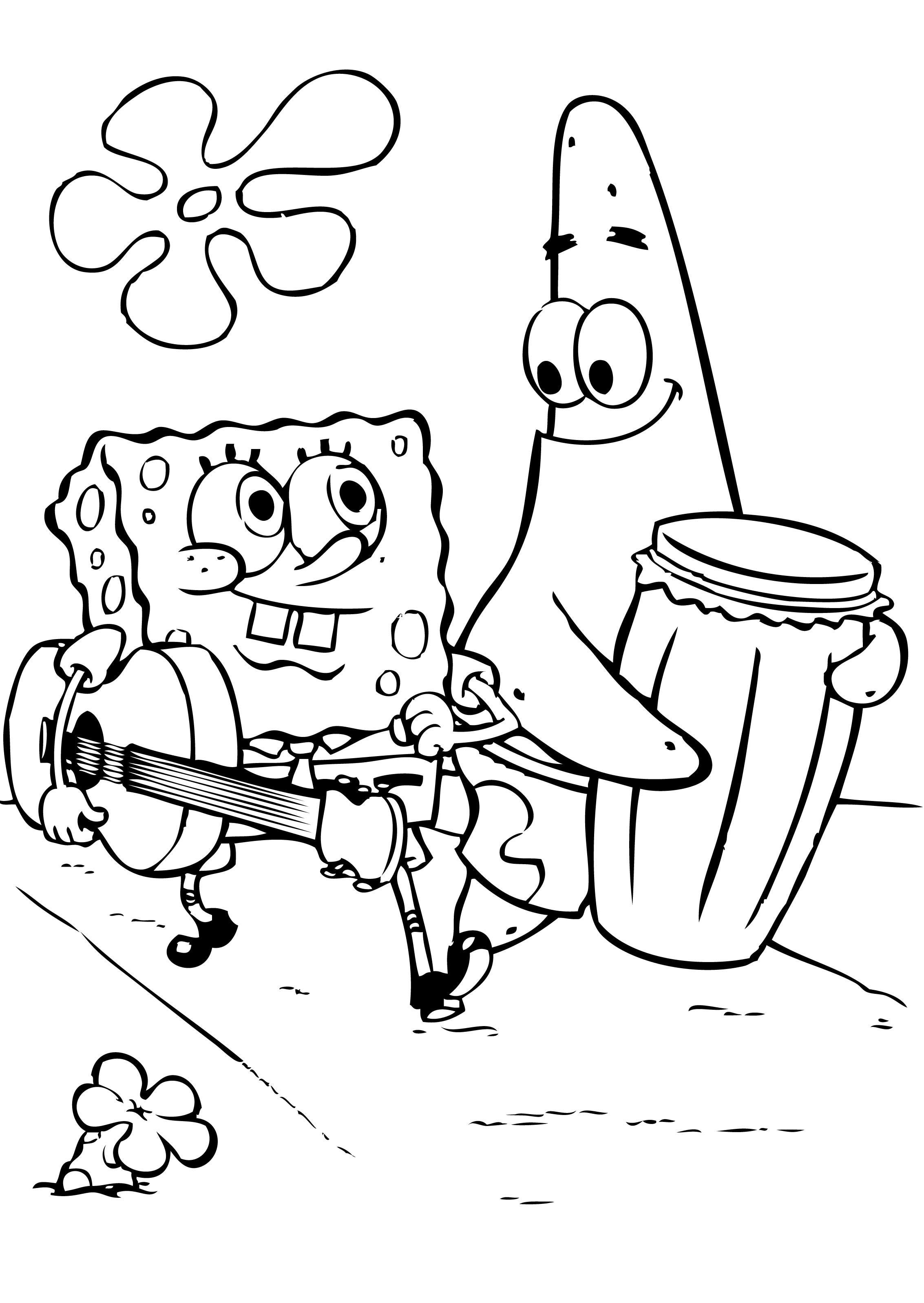 Sponge Bob Coloring Pages - Spongebob Coloring Pages Free Rawesomeco - Spongebob Squarepants Coloring Pages Free Printable