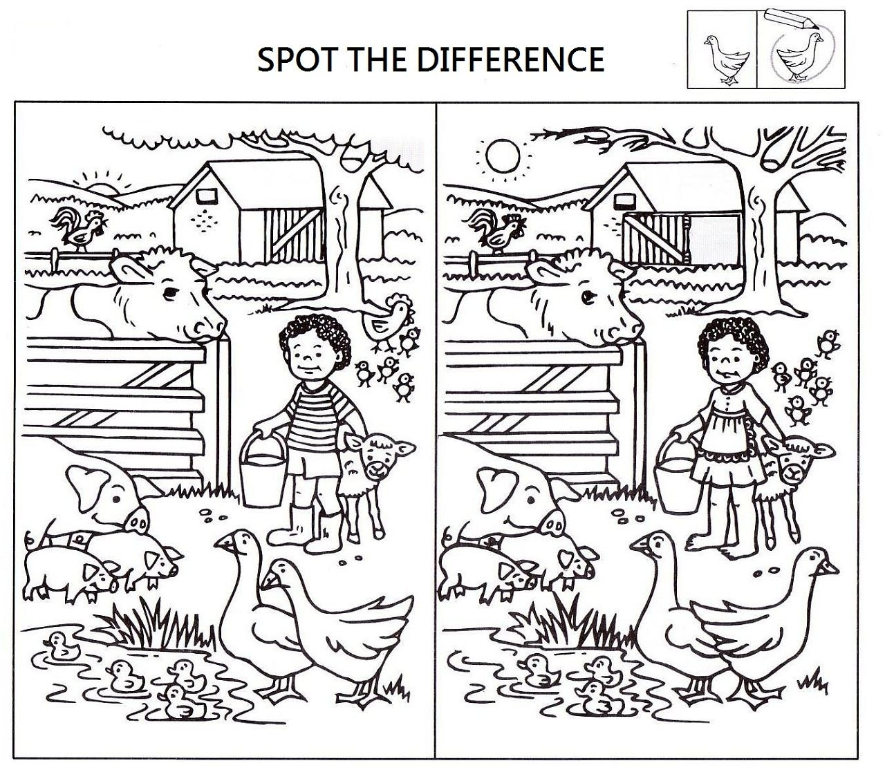 Spot The Difference Worksheets For Kids   Kids Worksheets Printable - Free Printable Spot The Difference For Kids