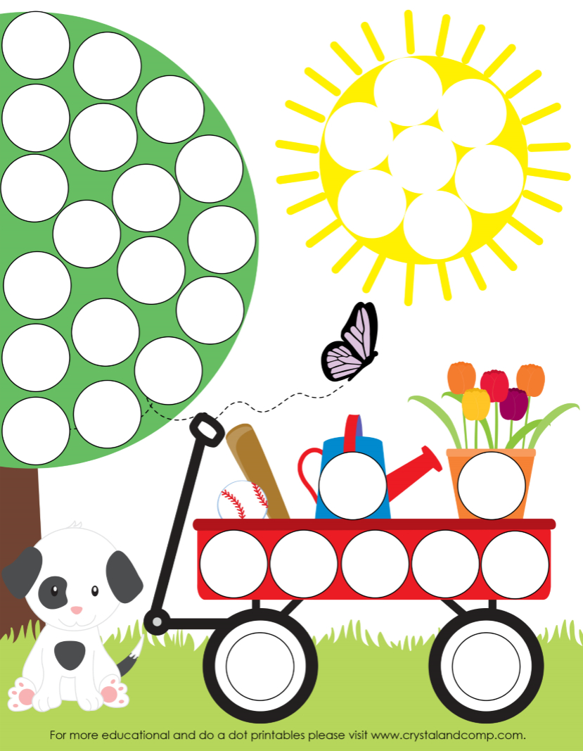 Spring Do A Dot Printables For Preschoolers | Travel Road Trip Ideas - Do A Dot Art Pages Free Printable