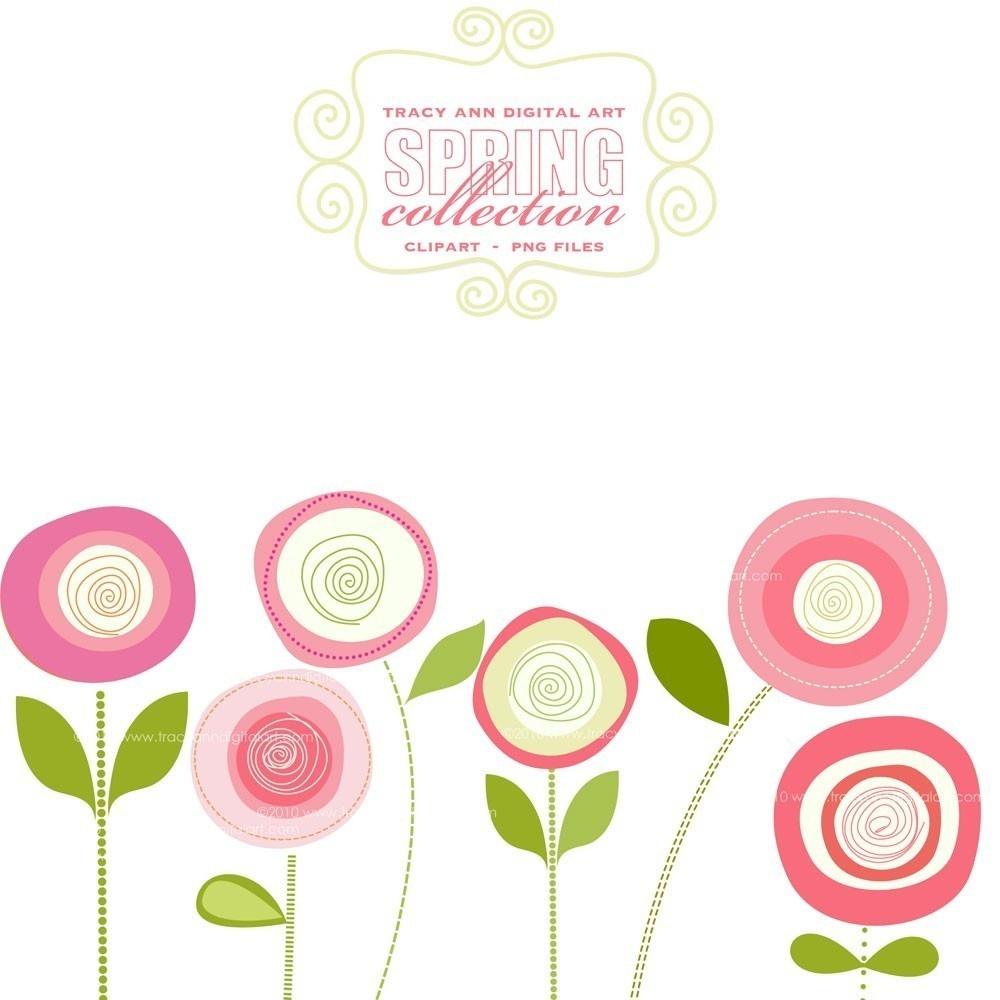 Spring Flowers Clip Art Free Printable 7 - Cliparting - Free Printable Clipart Of Flowers