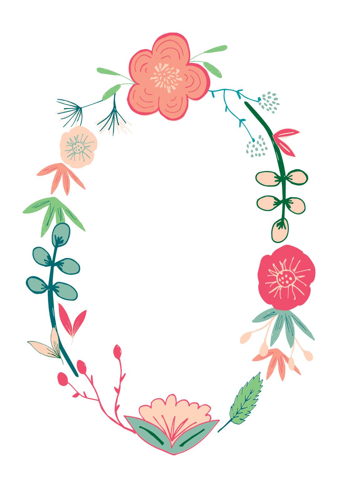 Spring Flowers - Free Printable Birthday Invitation Template - Free Printable Invitation Templates