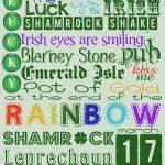 St Patrick's Day Fonts & Free Subway Art – Cherry Blossom Love   Free St Patrick's Day Subway Art Printables