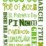 St. Patrick's Day I Spy Printable | A Wee Bit Irish! | St Pattys, St   Free St Patrick's Day Subway Art Printables