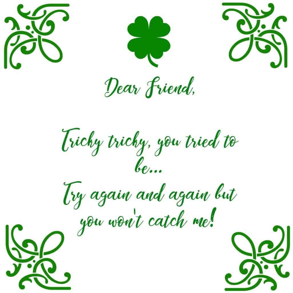 St Patricks Day Leprechaun Trap And Free Printable Letter - Free Printable Leprechaun Notes