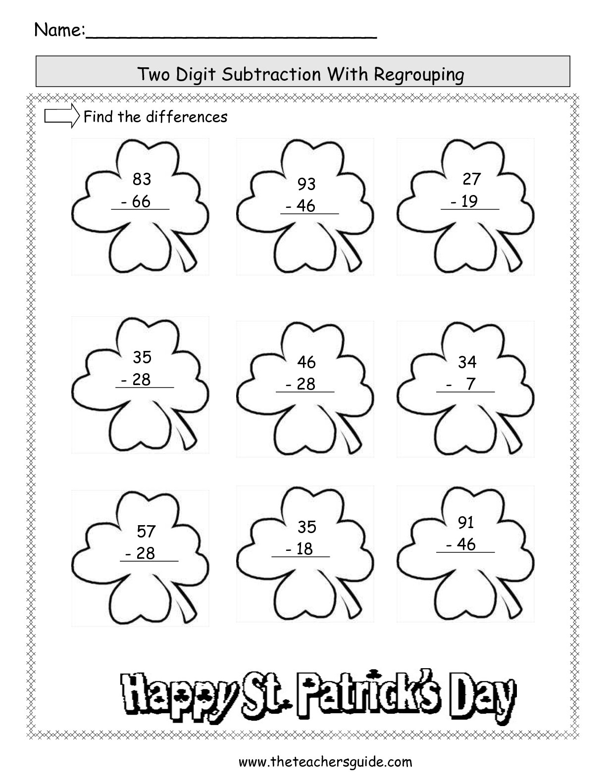 St. Patrick's Day Lesson Plans, Themes, Printouts, Crafts - Free Printable St Patrick Day Worksheets
