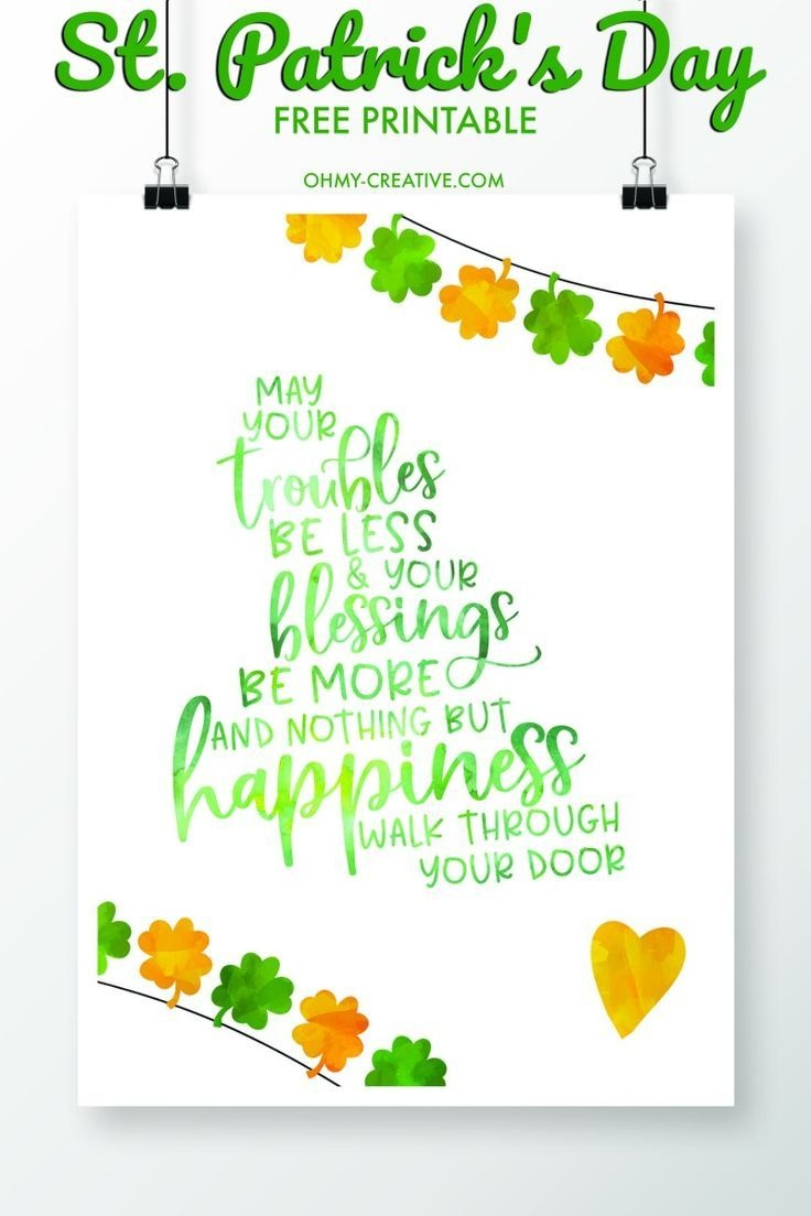 St. Patrick's Day Sayings Free Printables | Printables And Templates - St Patrick's Day Printables Free