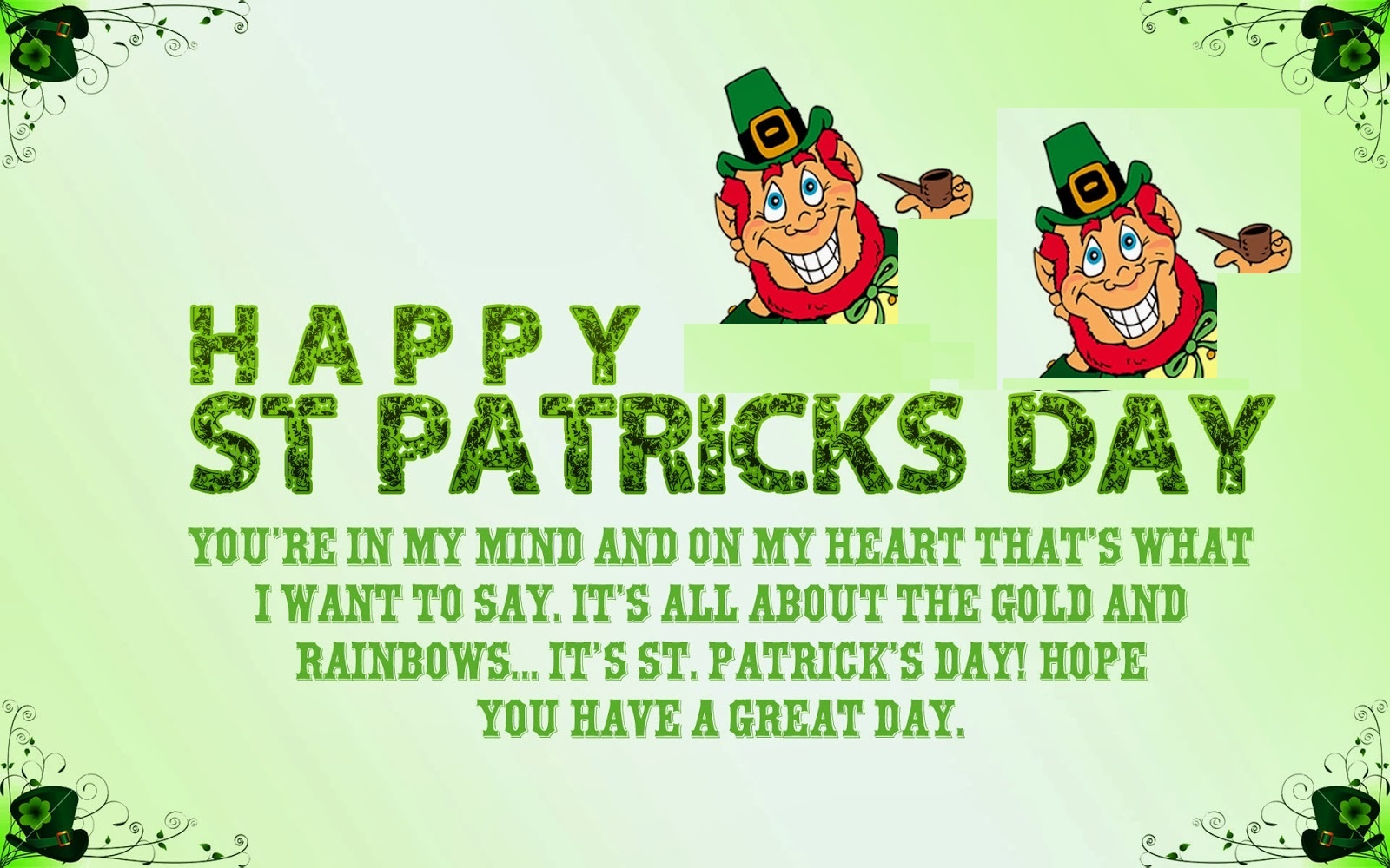 St Patricks Day Wishes Cards – Free Printable Calendar & Holidays - Free Printable St Patrick's Day Greeting Cards