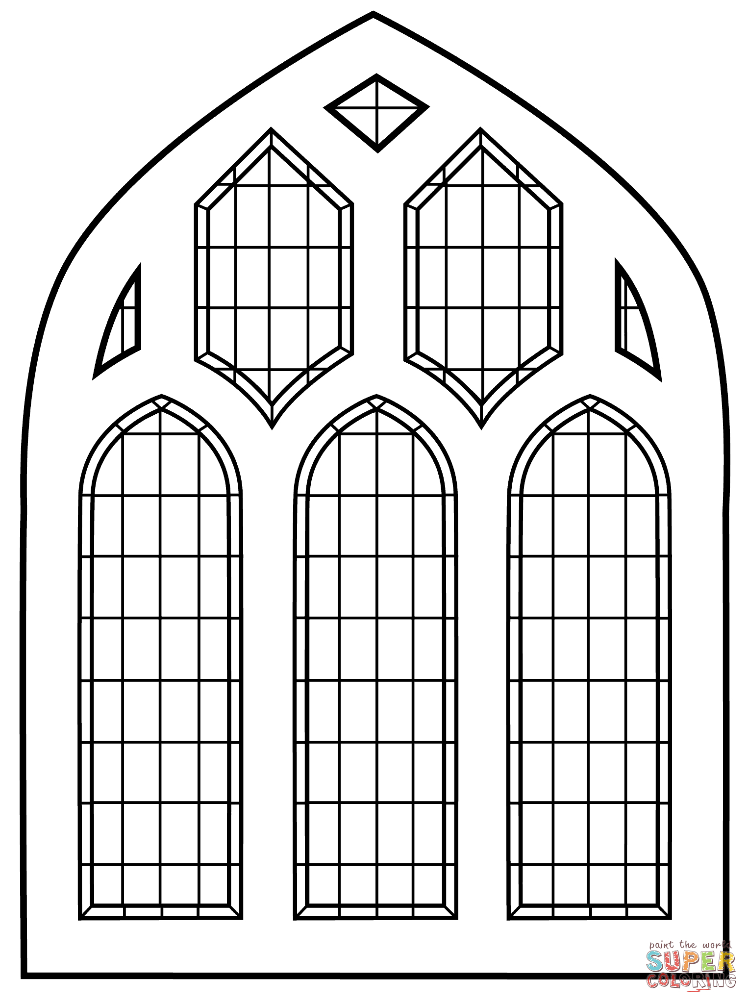 Stained Glass Window | Super Coloring | Amaryllis | Stained Glass - Free Printable Religious Stained Glass Patterns