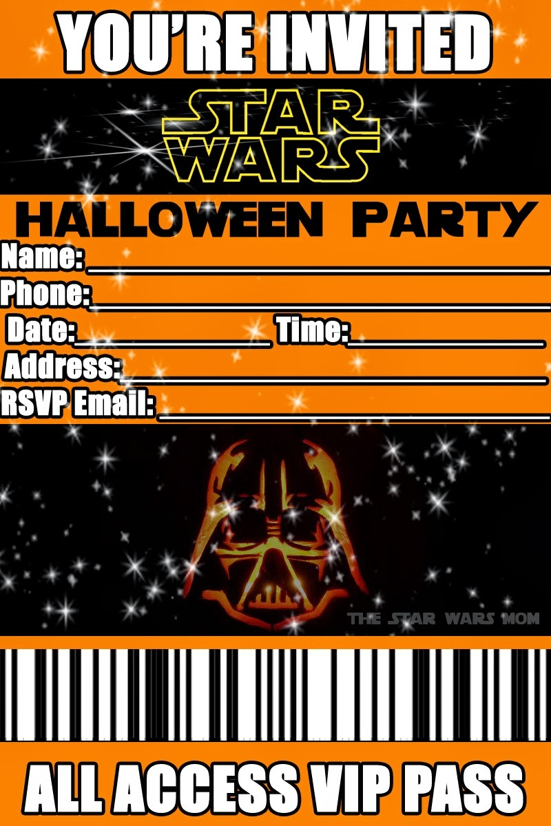 Star Wars - Free Printable Halloween Party Invitation - The Star - Free Printable Halloween Homework Pass