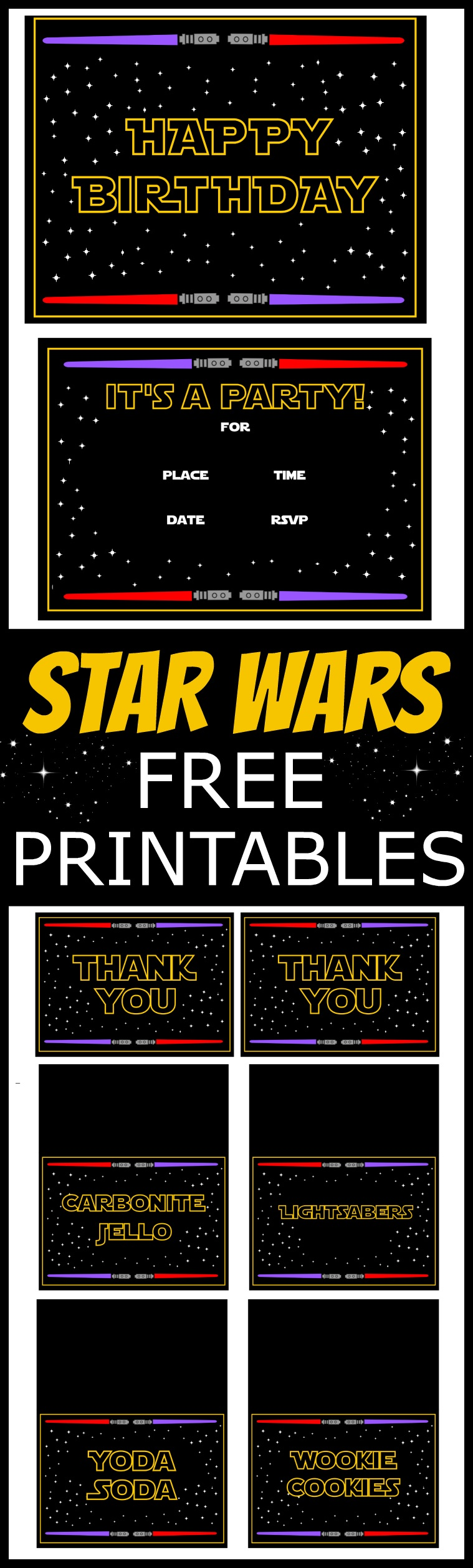 Star Wars Free Printables | Catch My Party - Free Star Wars Printables