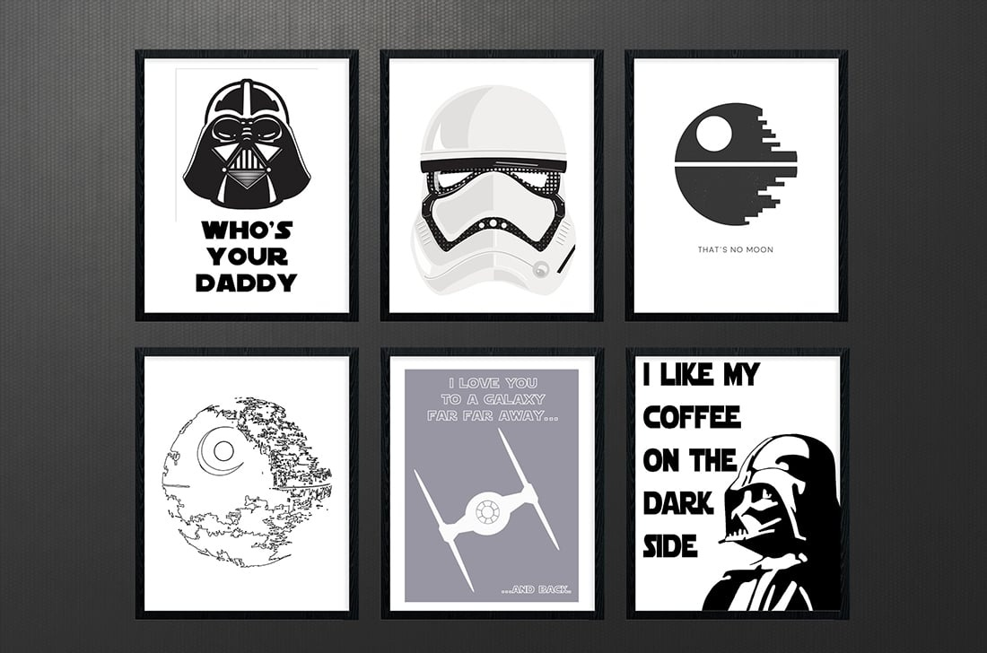 Star Wars Free Printables • A Roundup • Little Gold Pixel - Free Star Wars Printables