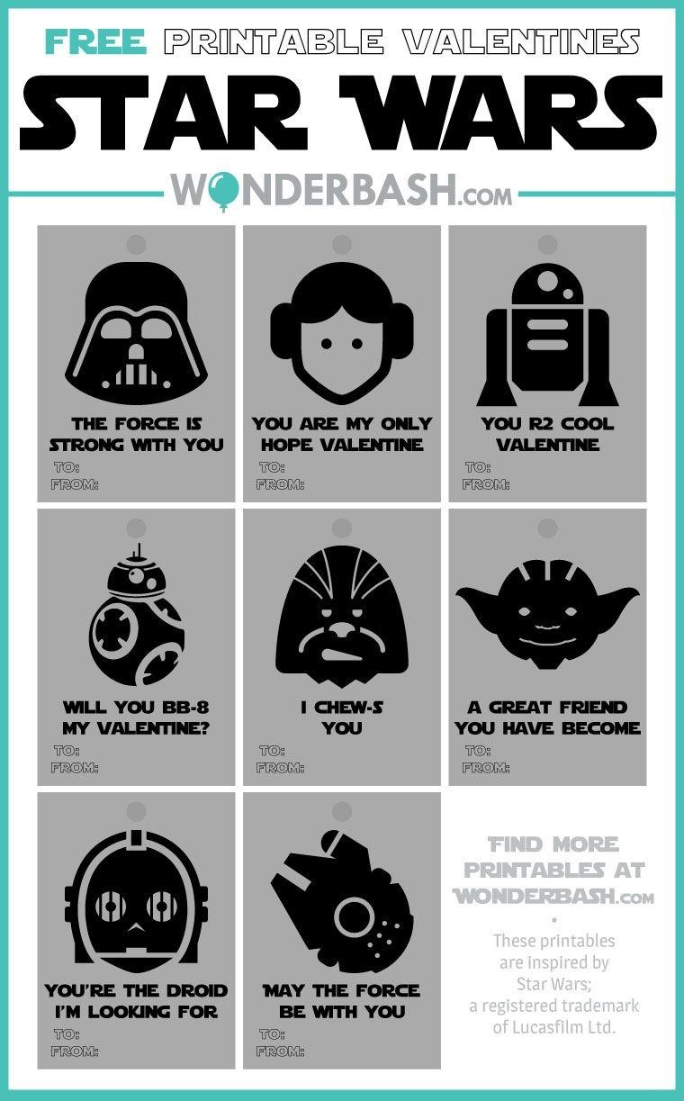 Star Wars Valentines Printables Free Download | Wonderbash - Free Printable Lego Star Wars Valentines