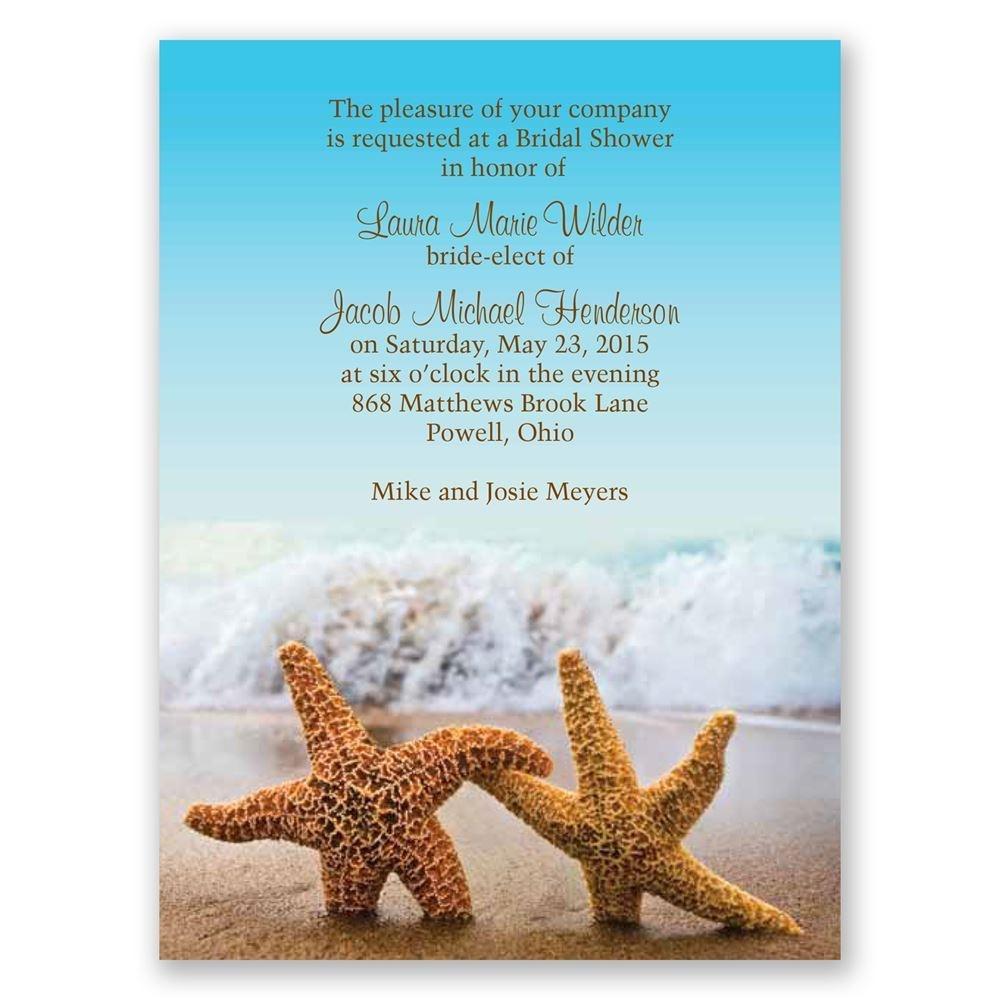 Starfish Petite Bridal Shower Invitation   Invitationsdawn - Starfish Story Printable Free