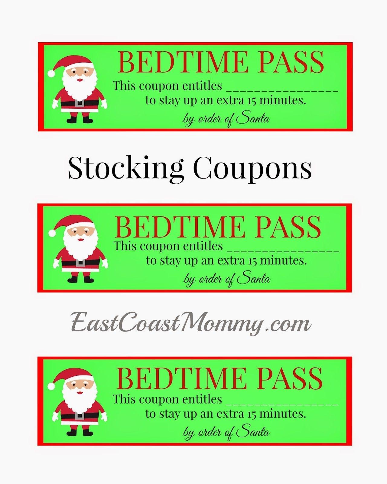 Stocking Stuffer Coupons {Free Printable} | Holidays | Christmas - Free Printable Stocking Stuffers