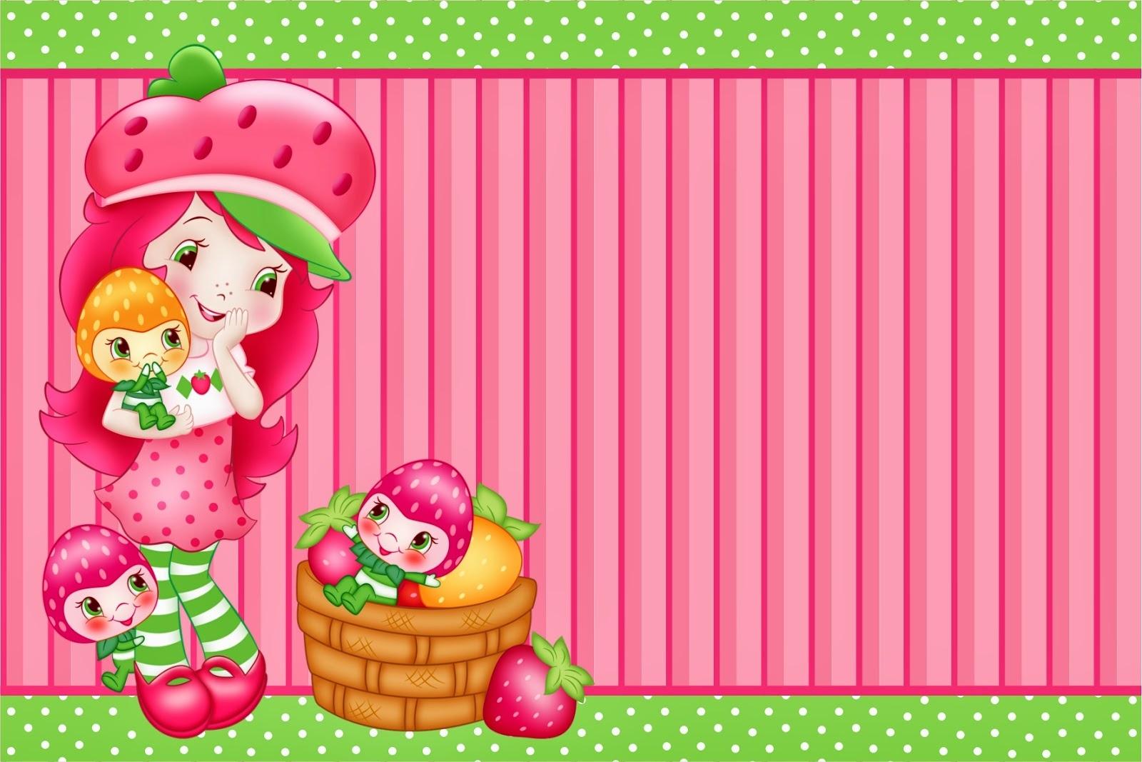 Strawberry Shortcake Free Printable Mini Kit. - Oh My Fiesta! In English - Strawberry Shortcake Birthday Cards Free Printable