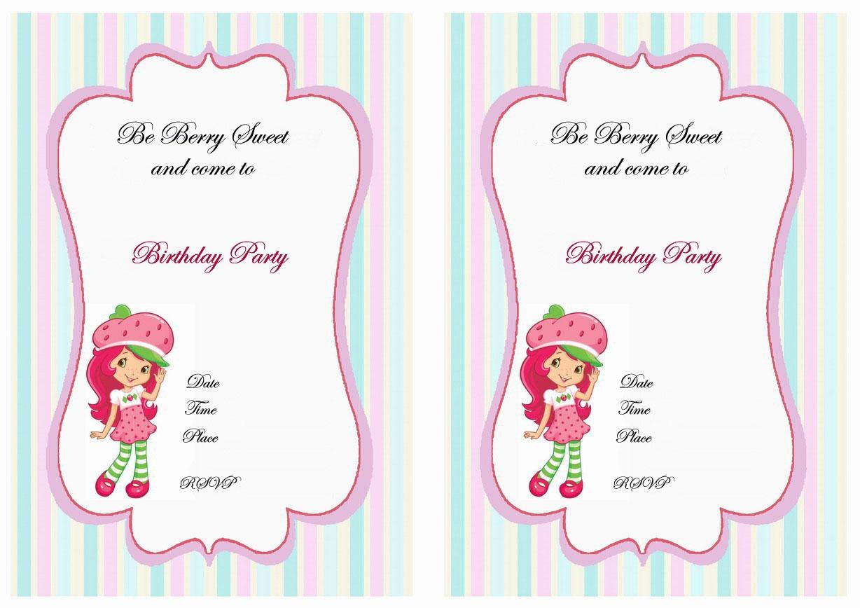 Strawberry Shortcake | - Strawberry Shortcake Birthday Cards Free Printable