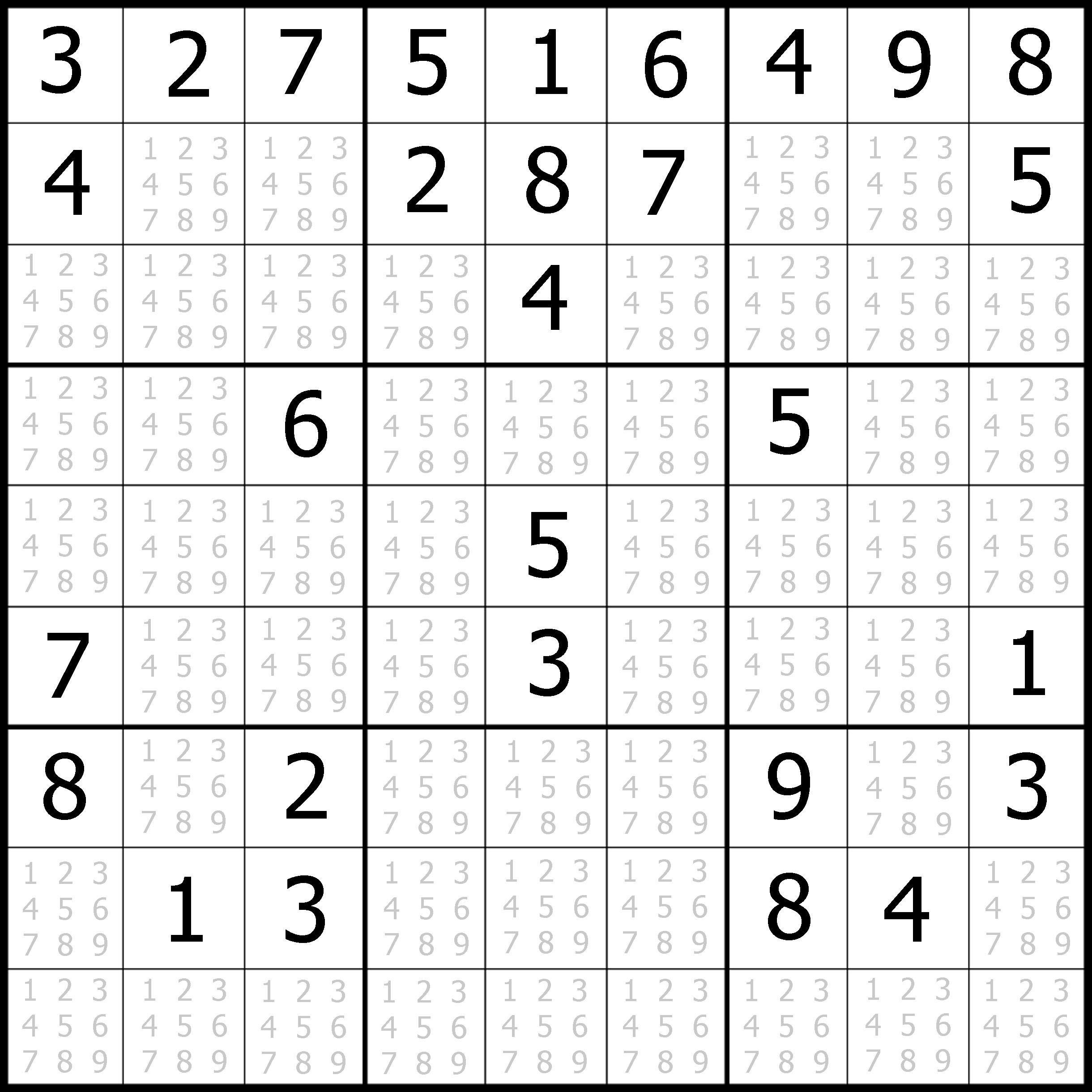 Sudoku Printable | Free, Medium, Printable Sudoku Puzzle #1 | My - Free Printable Suduko