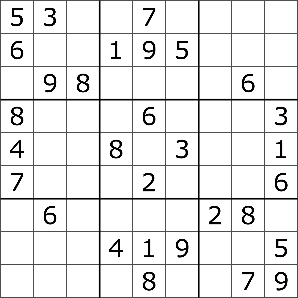 Sudoku - Wikipedia - Free Printable Suduko