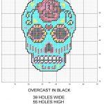 Sugar Skull Plastic Canvas Pattern | Various Plastic Canvas Patterns   Free Printable Plastic Canvas Patterns