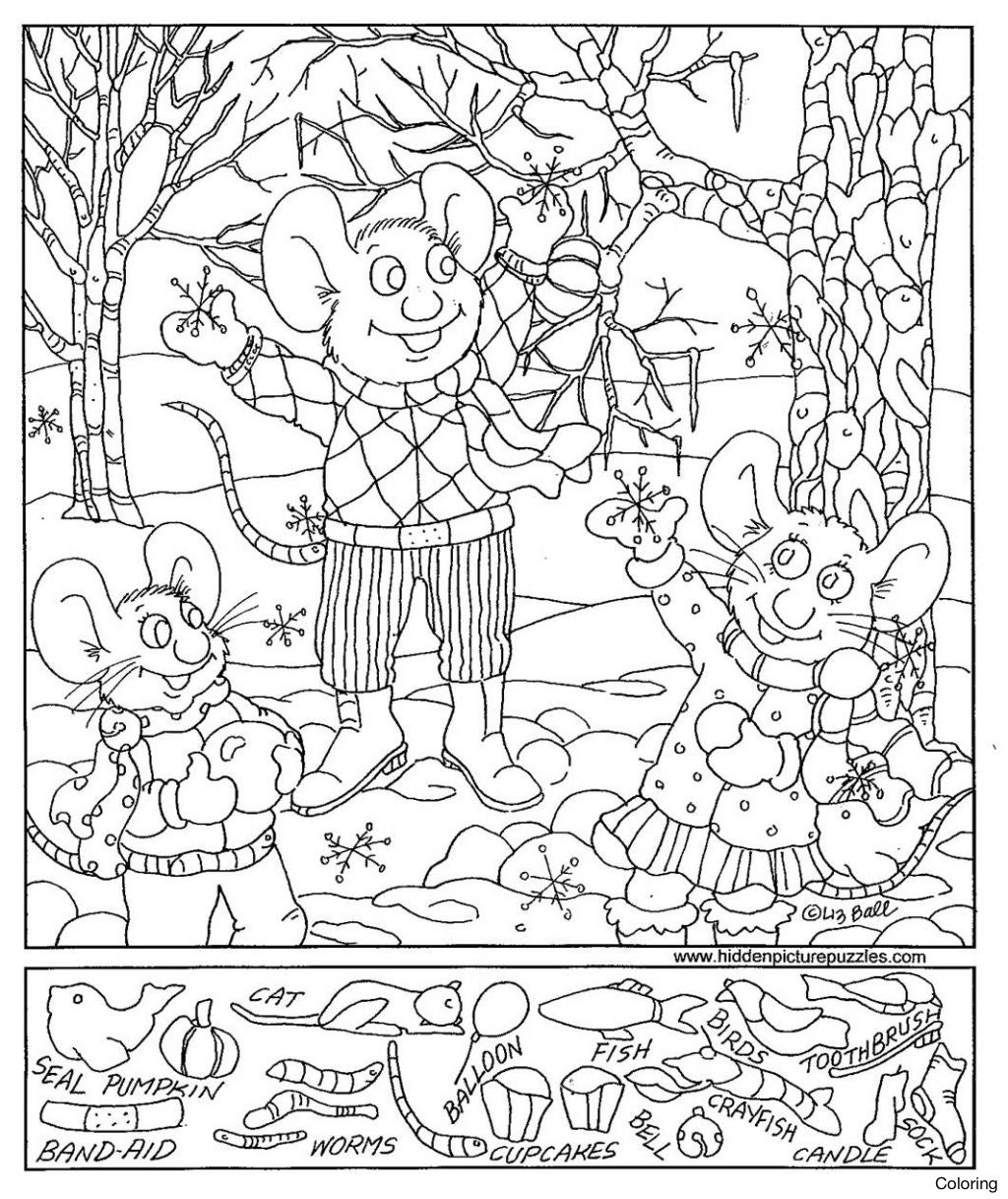 Summer Coloring Pages Pdf Elegant Free Printable Christmas Coloring - Free Printable Hidden Pictures For Adults Pdf