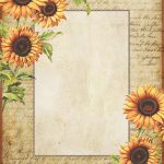 Sunflowers ~ Free Printable Stationery | Graphics: Lilac & Lavender   Free Printable Vintage Stationary