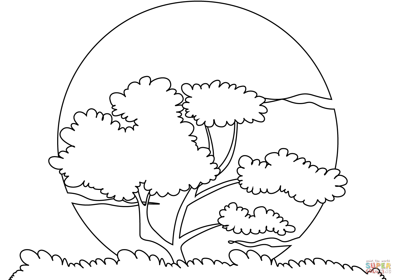 Sunset Sun Coloring Page | Free Printable Coloring Pages - Free Printable Pictures To Color
