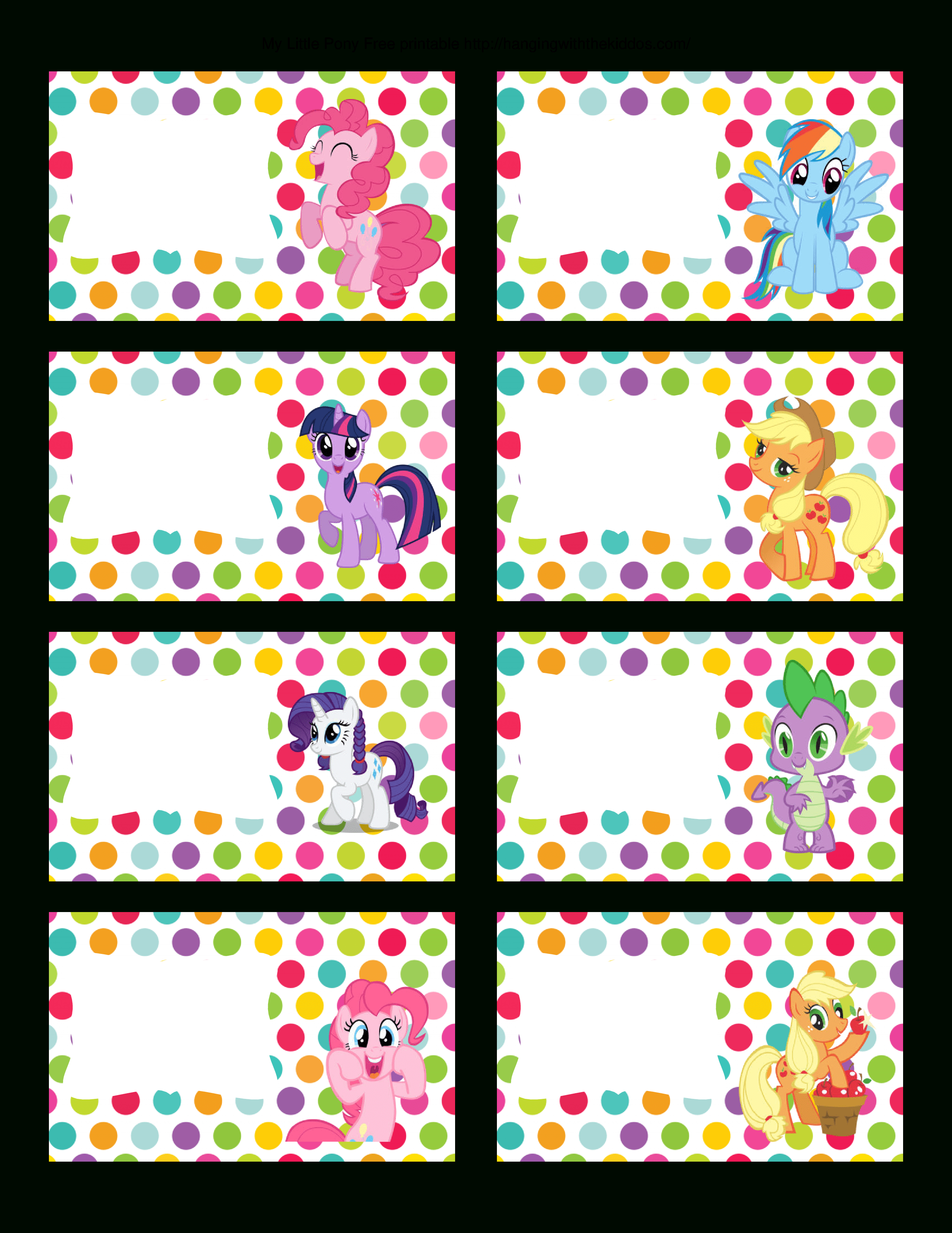 Super Cute Collection Of Free My Little Pony Party Printables. This - Free My Little Pony Party Printables