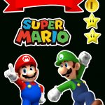 Super Mario Bros Free Printable Cake Toppers.   Oh My Fiesta! For Geeks   Free Mario Printables