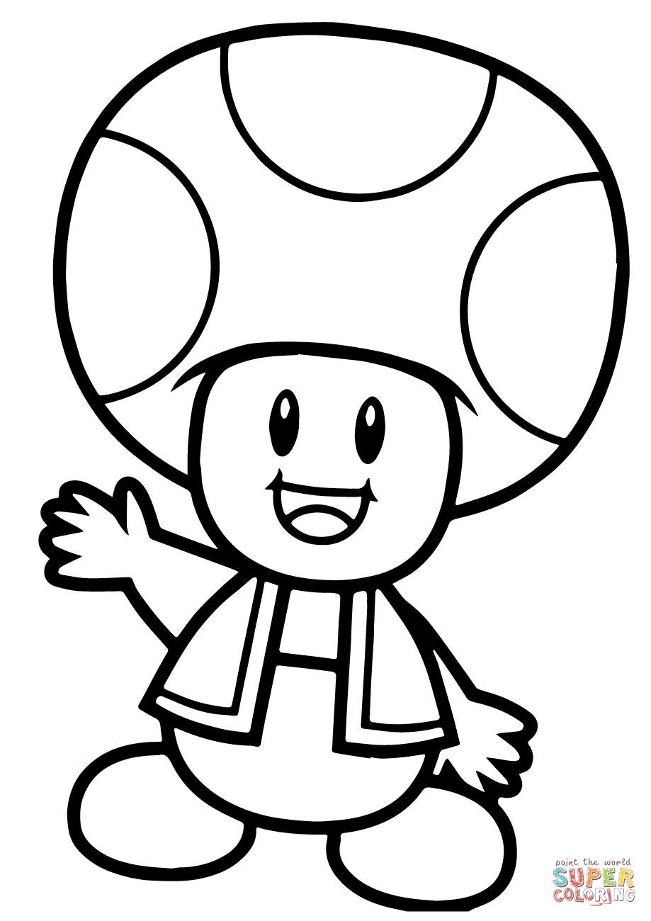 Super Mario Bros. Toad Coloring Page   Free Printable Coloring Pages - Mario Coloring Pages Free Printable