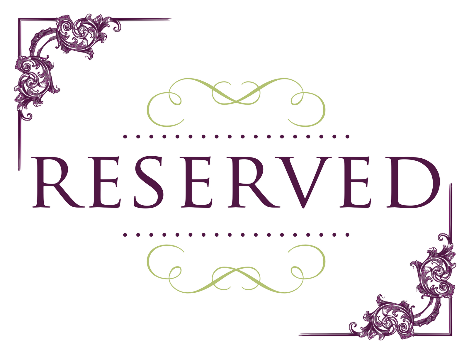 Superb Reserved Signs For Tables | Ideas For The House | Reserved - Free Printable Reserved Table Signs