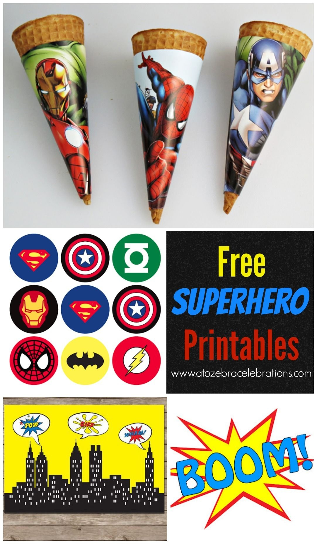 Superhero Backdrop | Neice Babyshower | Superhero Birthday Party - Free Superhero Party Printables