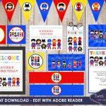 Superhero Party, Instant Download Superhero Printable, Superhero   Free Superhero Party Printables