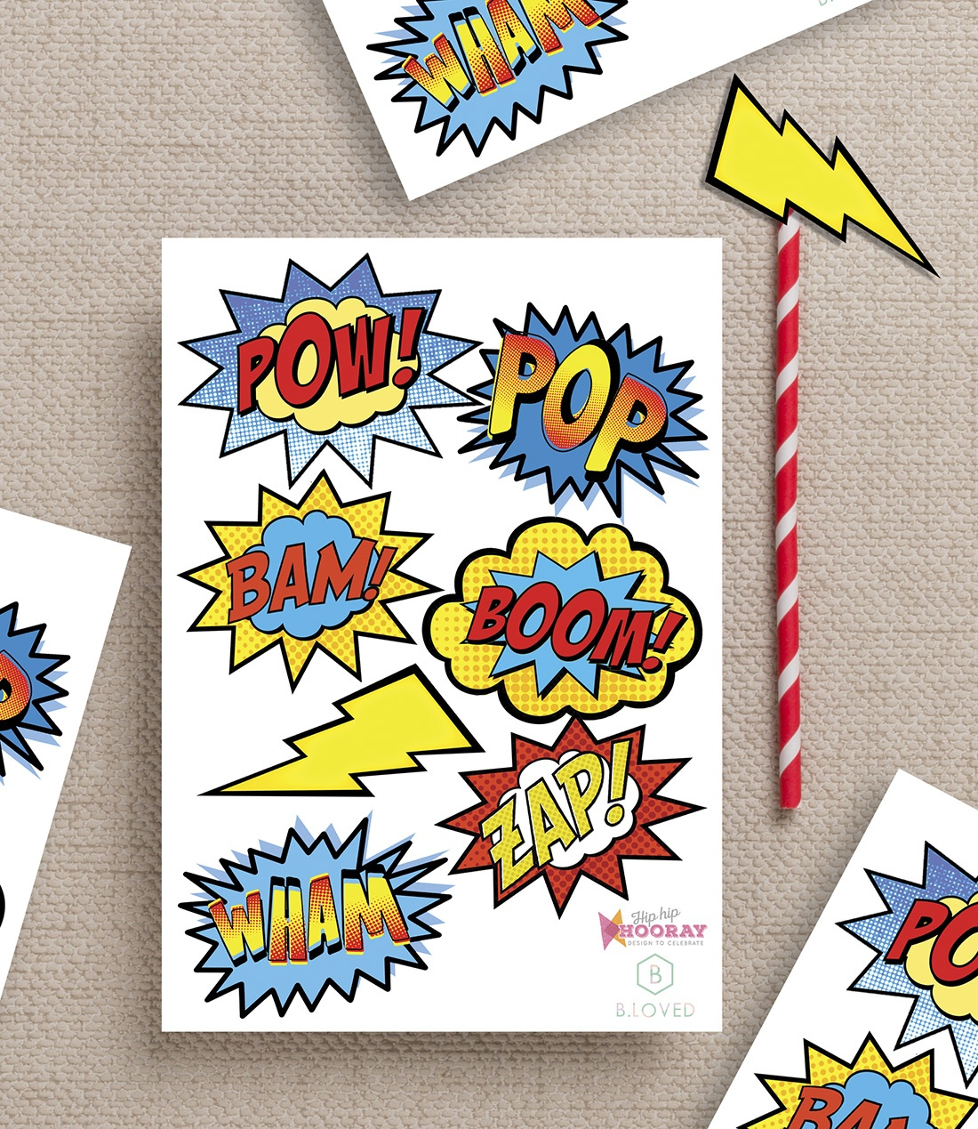 Superhero Party Printables - Free Superhero Photo Booth Printables