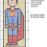 Superman 8 Bit Bookmark Plastic Canvas Patternmichael Kramer   Free Printable Plastic Canvas Patterns Bookmarks