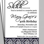 Surprise Birthday Party Invitation Wording For Adults — Birthday   Free Printable Surprise 40Th Birthday Party Invitations