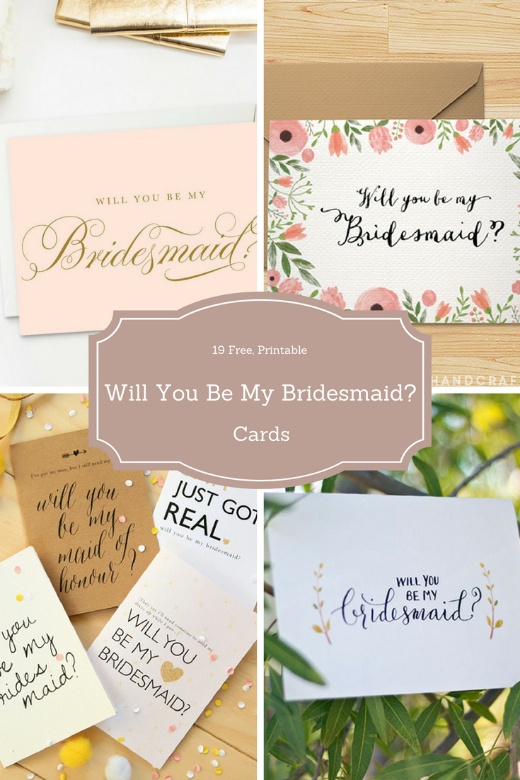 Surprise Your Friends With A Free Will You Be My Bridesmaid? Cards - Free Printable Bridesmaid Proposal