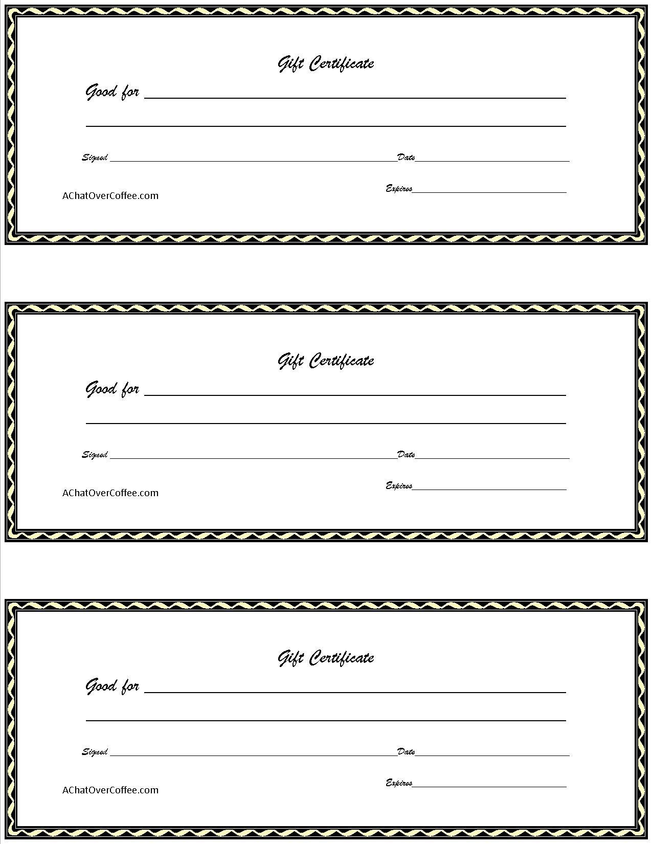 Surprising Free Printable Gift Certificates Template Ideas Christmas - Free Printable Gift Certificates