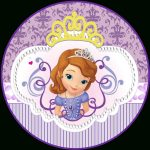 Sweet Sofia The First: Free Printable Invitations And Candy Bar   Sofia The First Cupcake Toppers Free Printable
