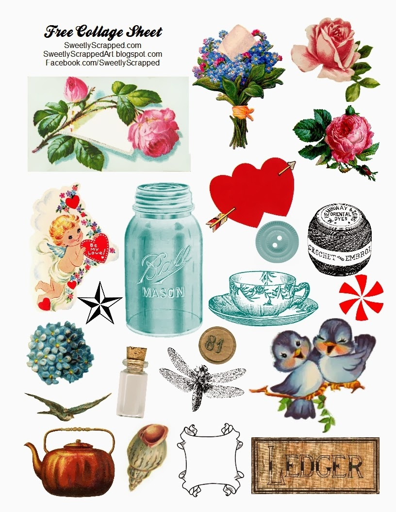 Sweetly Scrapped: Free Digital Collage Sheet - Free Printable Digital Collage Sheets