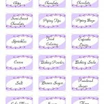Sweets For Sami: Baking Labels  Free Printable   Free Printable Baking Labels