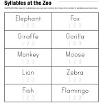 Syllables At The Zoo Worksheet | Paging Supermom | School Practice   Free Printable Open And Closed Syllable Worksheets