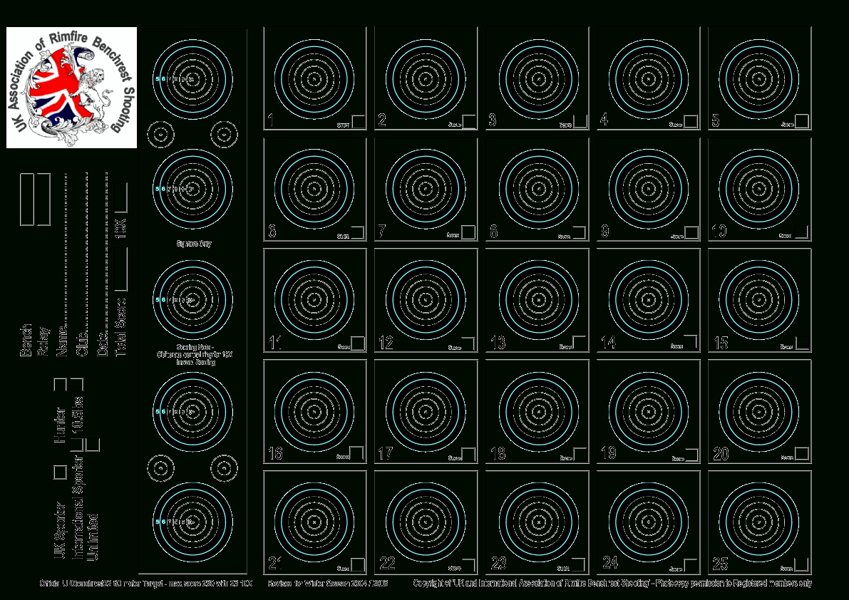 Targets For Download And Printing Within Accurateshooter - Free Printable Nra 25 Targets